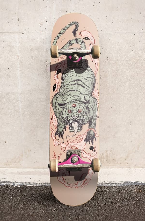 tiger style skateboard