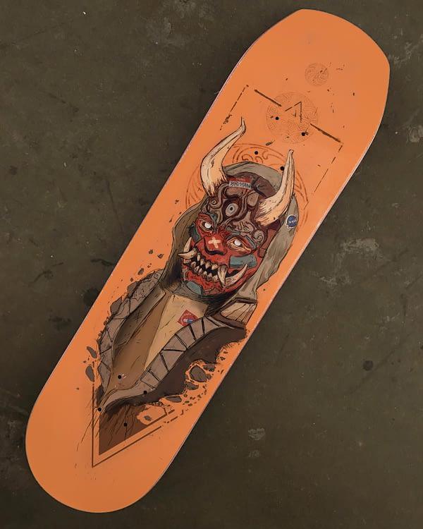skate deck demon japanese
