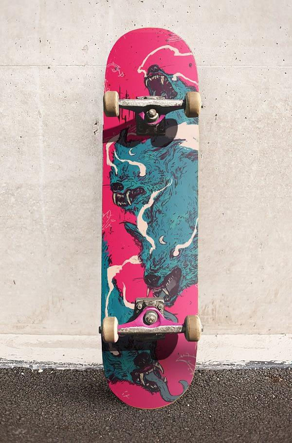 wolf style skateboard