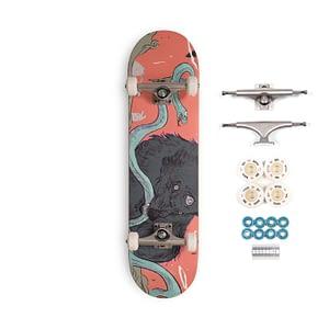complete skate wolf deck art