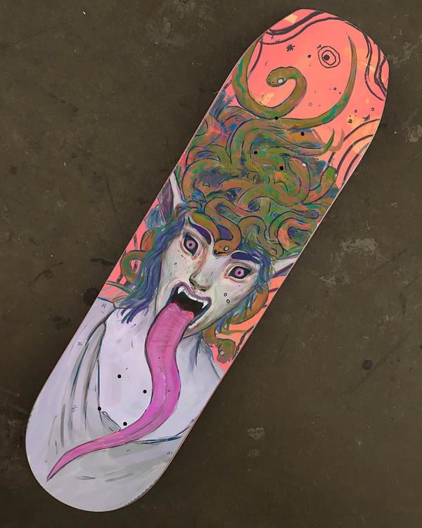 medusa skate deck art decor