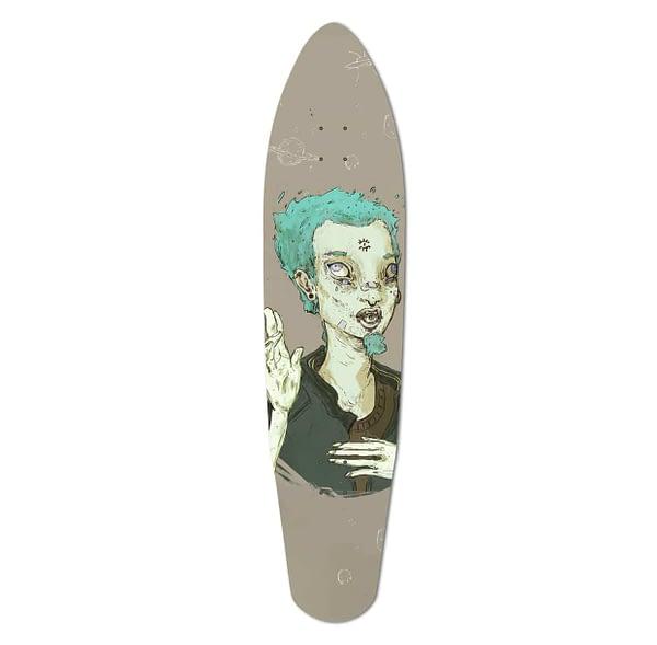 custom longboard illustration